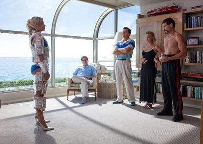 Leonardo DiCaprio, Jon Bernthal, Jonah Hill and Margot Robbie in