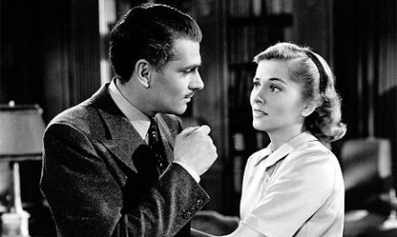 Laurence Olivier and Joan Fontaine in Rebecca