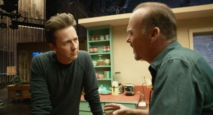 BIRDMAN (OR THE UNEXPECTED VIRTUE OF IGNORANCE), (aka BIRDMAN), l-r: Edward Norton, Michael Keaton,