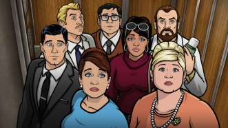 "ARCHER: Episode 5, Season 6 ""Vision Quest"" (Airing Thursday, February 5, 10:00 PM e/p) The gang gets to work early so they can spend some quality time together. Pictured: (L-R) Sterling Archer (voice of H. Jon Benjamin), Ray Gillette (voice of Adam Reed), Cheryl Tunt (voice of Judy Greer), Cyril Figgis (voice of Chris Parnell), Lana Kane (voice of Aisha Tyler), Dr. Krieger (voice of Lucky Yates), Pam Poovey (voice of Amber Nash). CR: FX"